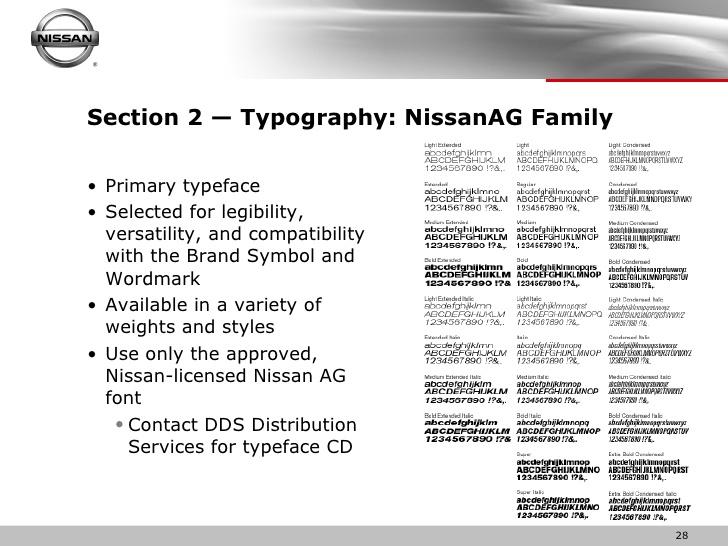 nissan ag font free download