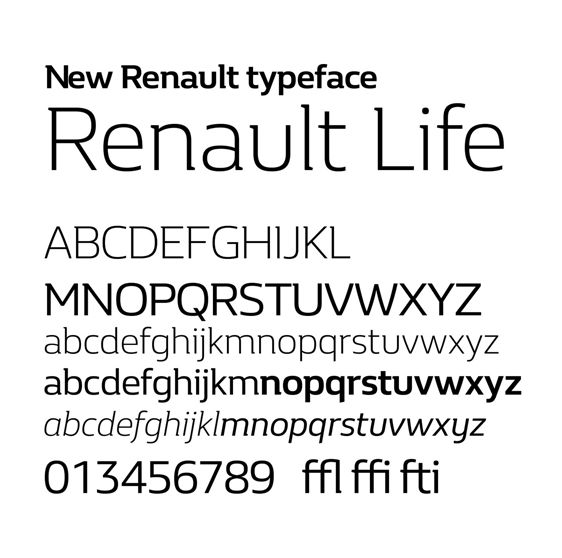 Renault Life font download for Web or Photoshop