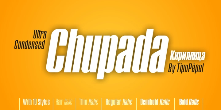 Chupada font download for Web or Photoshop