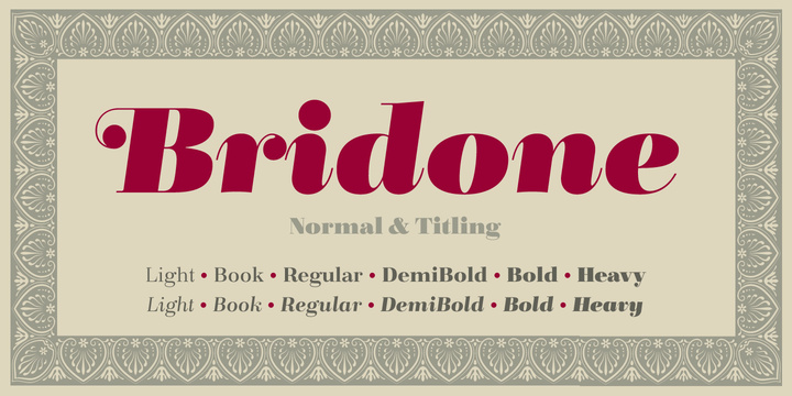 Bridone font download for Web or Photoshop