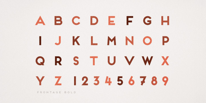 Frontage font download for Web or Photoshop