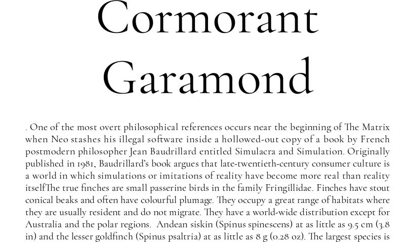Cormorant Garamond font download for Web or Photoshop