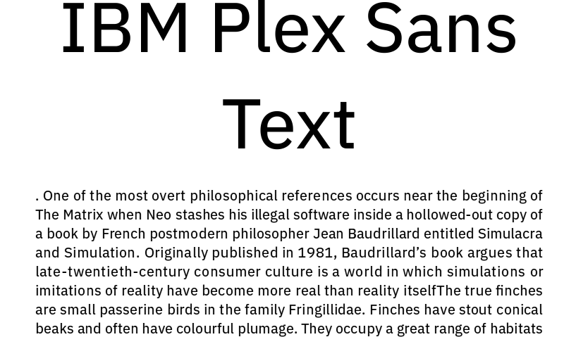 IBM Plex Sans font download for Web or Photoshop