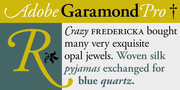 Adobe Garamond Pro font download for Web or Photoshop