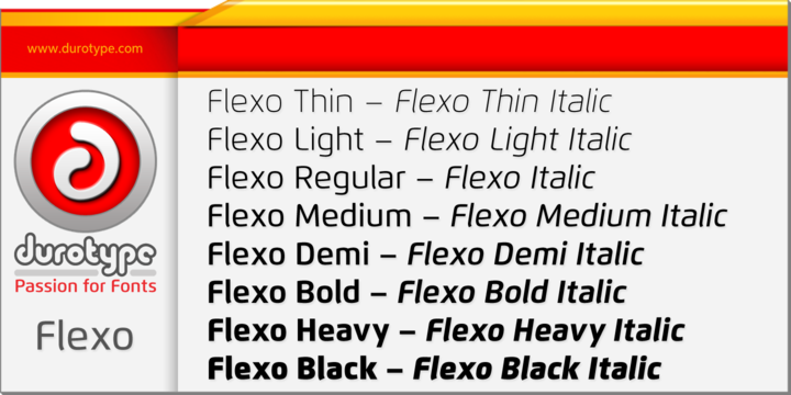 Flexo font download for Web or Photoshop