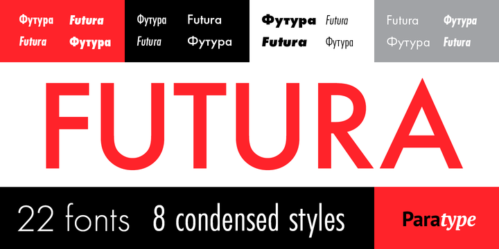 Futura PT font download for Web or Photoshop