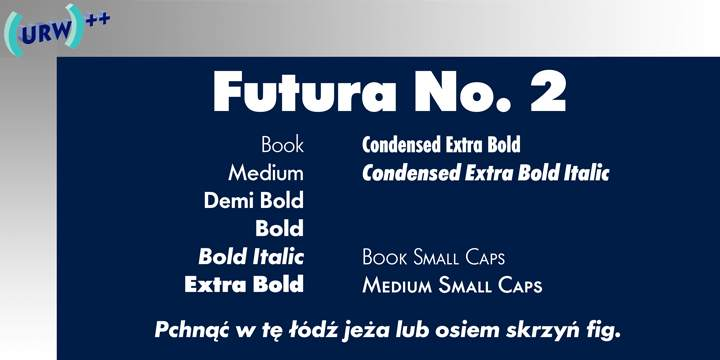 Futura No 2 font download for Web or Photoshop