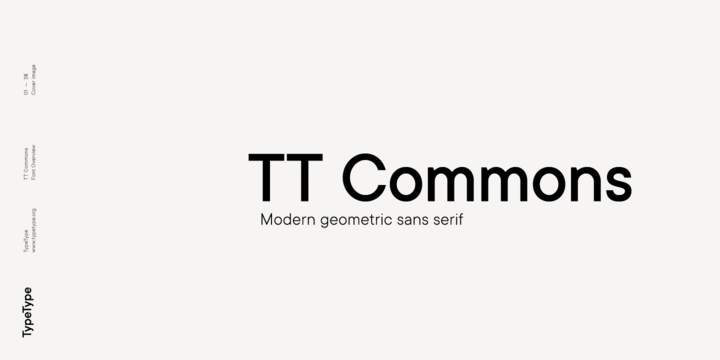 TT Commons font download for Web or Photoshop