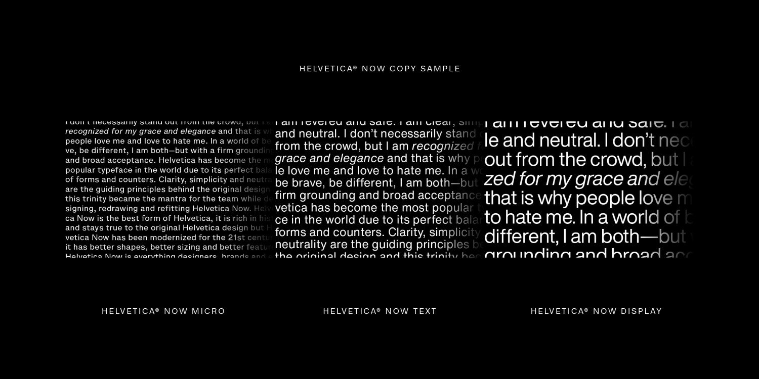 Helvetica Now Display font download for Web, Figma or Photoshop